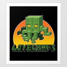 Minecraftian Art Print