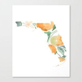Florida State Watercolor Art- State Flower Orange Blossom Canvas Print