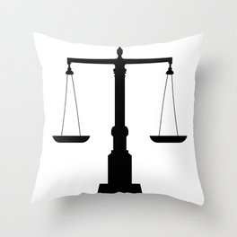 weight scale Throw Pillow