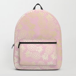 Elegant gold pineapple pattern Backpack