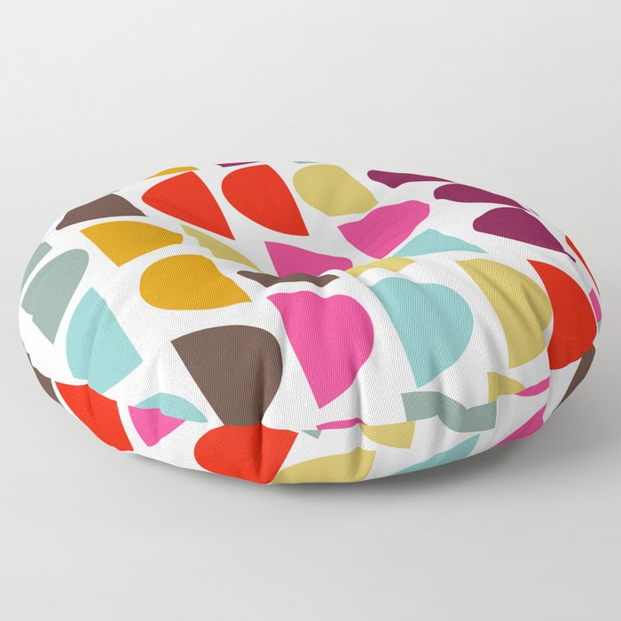 Geometric in Bright Fall Colors Floor Pillow