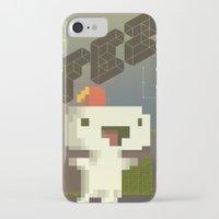 fez iPhone & iPod Cases featuring FEZ: Gomez by Retro Zombie