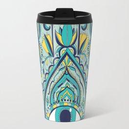 blue hamsa Travel Mug