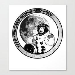 Space Monkeys Black & White Canvas Print