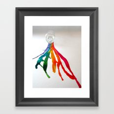Rainbow Spill Framed Art Print