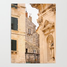 Terrace in Old Town Europe #decor #society6 Poster