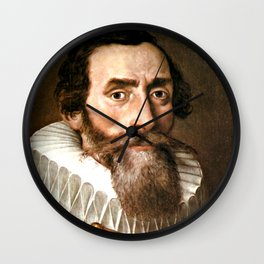 Johannes Kepler was a German mathematician and optician Wall Clock