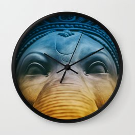 Ganesha Hindu God Indian Art Wall Clock