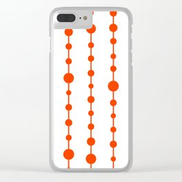 Orange vertical lines and dots Clear iPhone Case