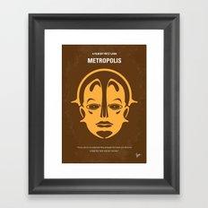 No052 My Metropolis minimal movie poster Framed Art Print