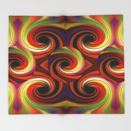Spicy Colors Throw Blanket