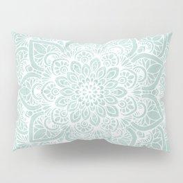 Mandala, Yoga, Love, Flower of Life, Teal Green Pillow Sham