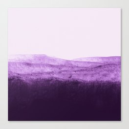 Amethyst Watercolor Crush Canvas Print