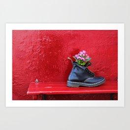 Walking surprises Art Print