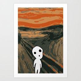 Kodama Scream Art Print