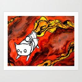 peapod cat Art Print