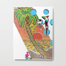 Island Graffiti Metal Print