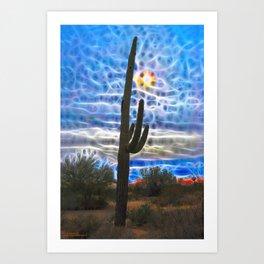 When Saguaro Dream Art Print