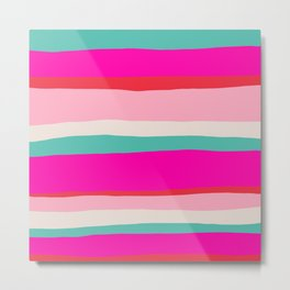 Candy Stripe Christmas Metal Print
