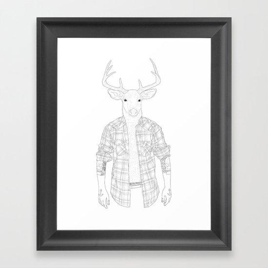 What the Deer ? Framed Art Print
