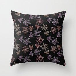 Skeletton Pattern Throw Pillow