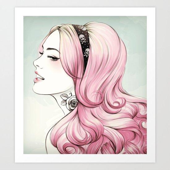 Pink Dye Art Print