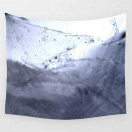 Tiny Snowflakes on Ice Wall Tapestry