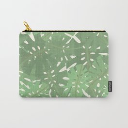 Vintage Florida Palm Fronds Pattern Carry-All Pouch