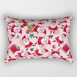 Santa Gift Pattern Rectangular Pillow