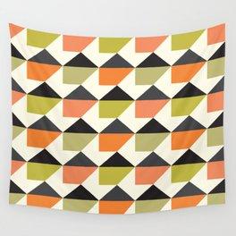 Geometric Pattern #104 (orange pink green Wall Tapestry