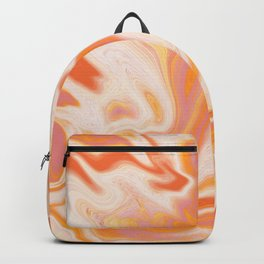 orange marble Backpack