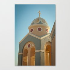 Greek island chapel Canvas Print