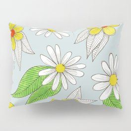 simple bright flowers Pillow Sham