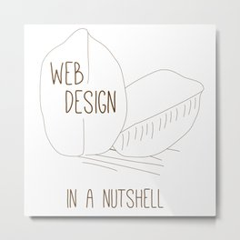 Web Design in a Nutshell Metal Print
