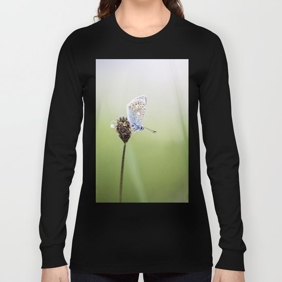 Common Blue Butterfly Long Sleeve T-shirt