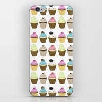 cupcakes iPhone & iPod Skins featuring Cupcakes by heartlocked