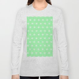 Pastel Green Flowers and Florals Isosceles Triangle Long Sleeve T-shirt