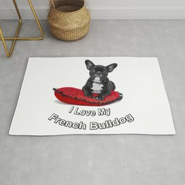 I Love My French Bulldog Rug