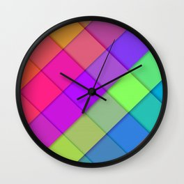 colorful rhombuses material design colorful lines geometric shapes lollipop geometry creative colorf Wall Clock