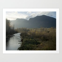 Columbia Gorge at Dawn Art Print