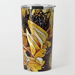 Sun Flower Day, Sun flowers art, sunflower prints, sun flowers tote, sun flowers bag, sun flowers Travel Mug