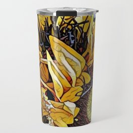 Sun Flower Day, Sun flowers art, sunflower prints, sun flowers tote, sun flowers bag, sun flowers Travel Mug
