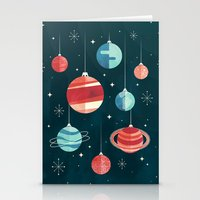 Stationery Cards featuring Joy to the Universe (in Teal) by littleclyde