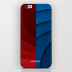 Red and blue color gradient iPhone & iPod Skin