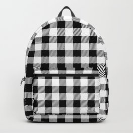 Plaid (black/white) Backpack