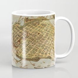 Vintage Pictorial Map of Vancouver BC (1898) Coffee Mug