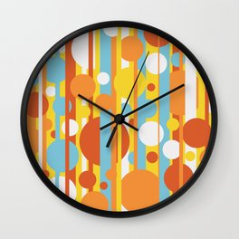 Stripes and circles color mode #2 Wall Clock