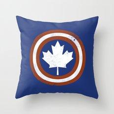 Captain Canada Throw Pillow