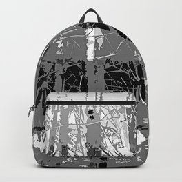 Tropical Abstract Trees in Steely Gray Backpack