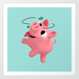 Rosa the Pig is Dizzy Art Print